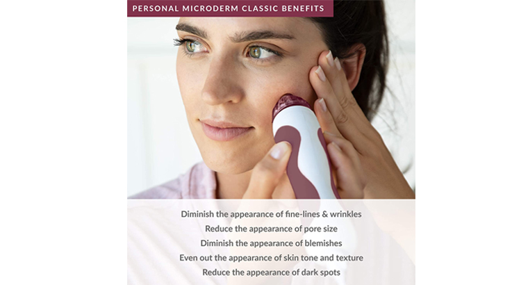 PMD Personal Microderm Classic – At-Home Microdermabrasion Machine with Kit for Face & Body – Exfoli