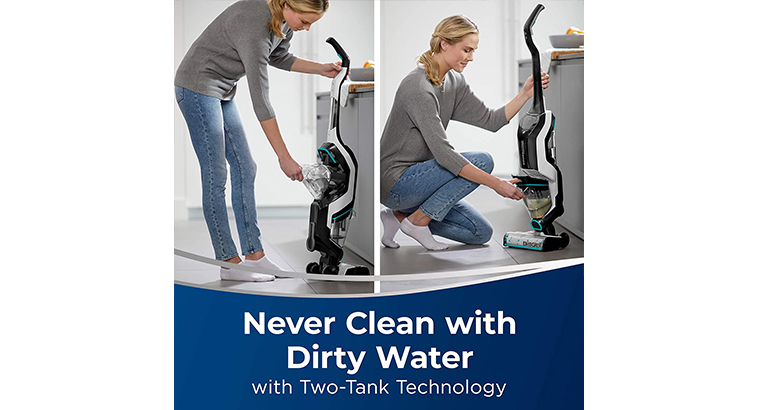 BISSELL, 2554A CrossWave Cordless Max All in One Wet-Dry Vacuum Cleaner and Mop for Hard Floors